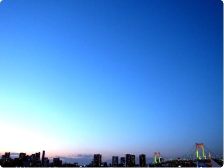 お台場からの眺め夕暮れ