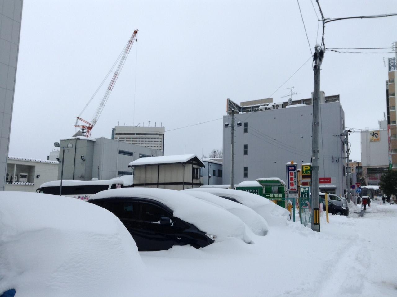 大雪降った日。