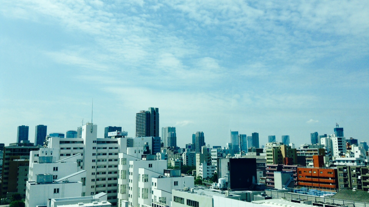 東京の空。